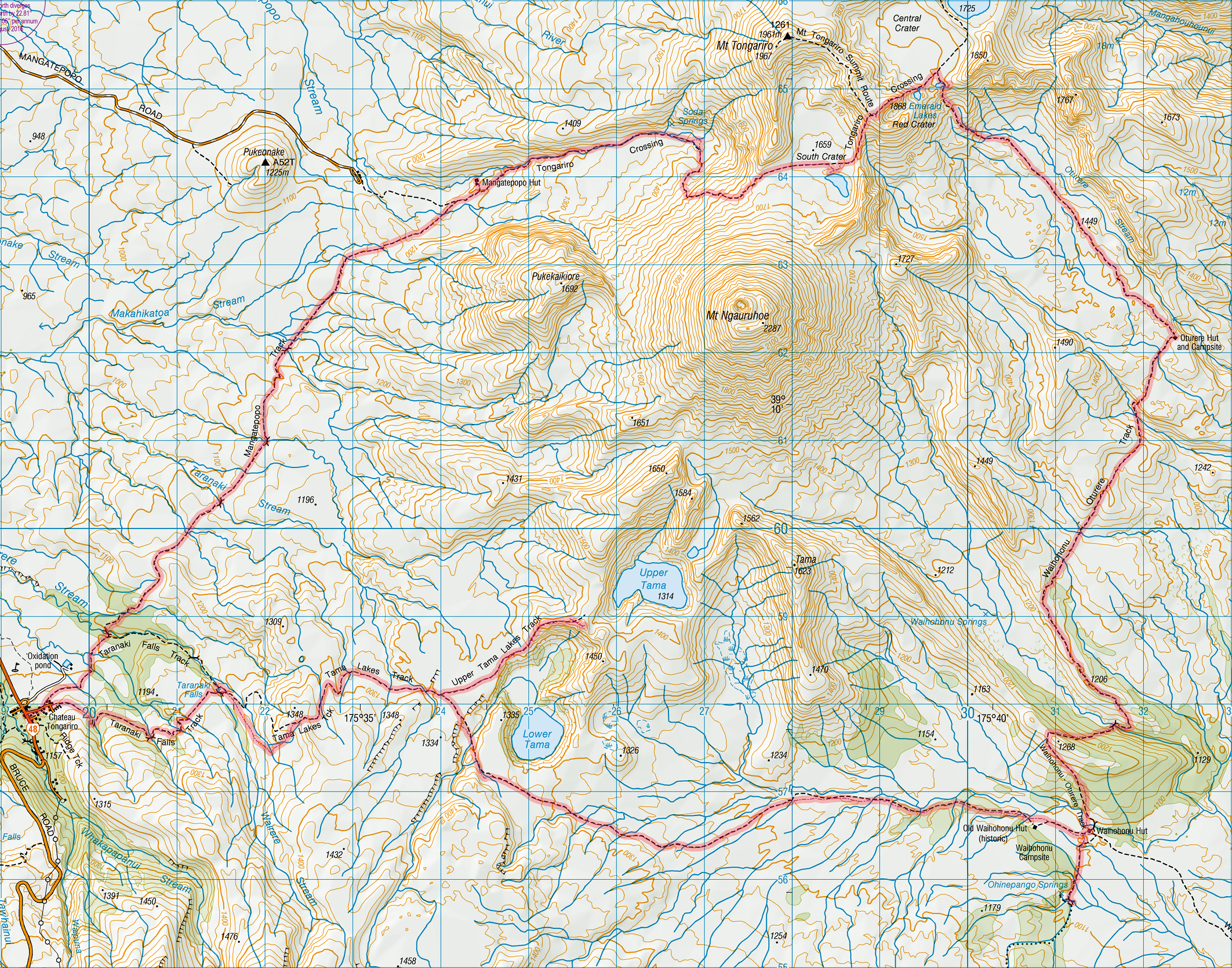 Topo Map Journey To Te Ika A Maui