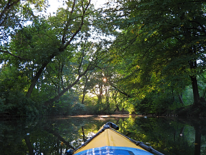 Kayaking into the sunset along the Lesser Circuit, August 15, 2016