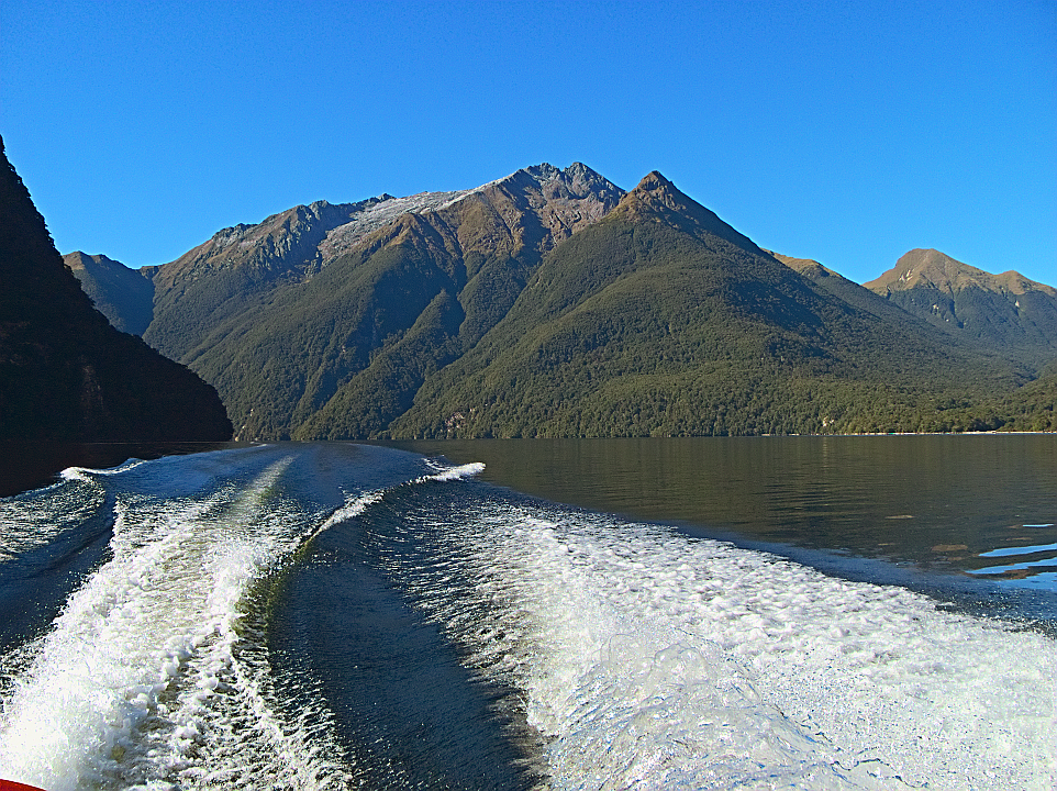 Caroline Peak, from the boat