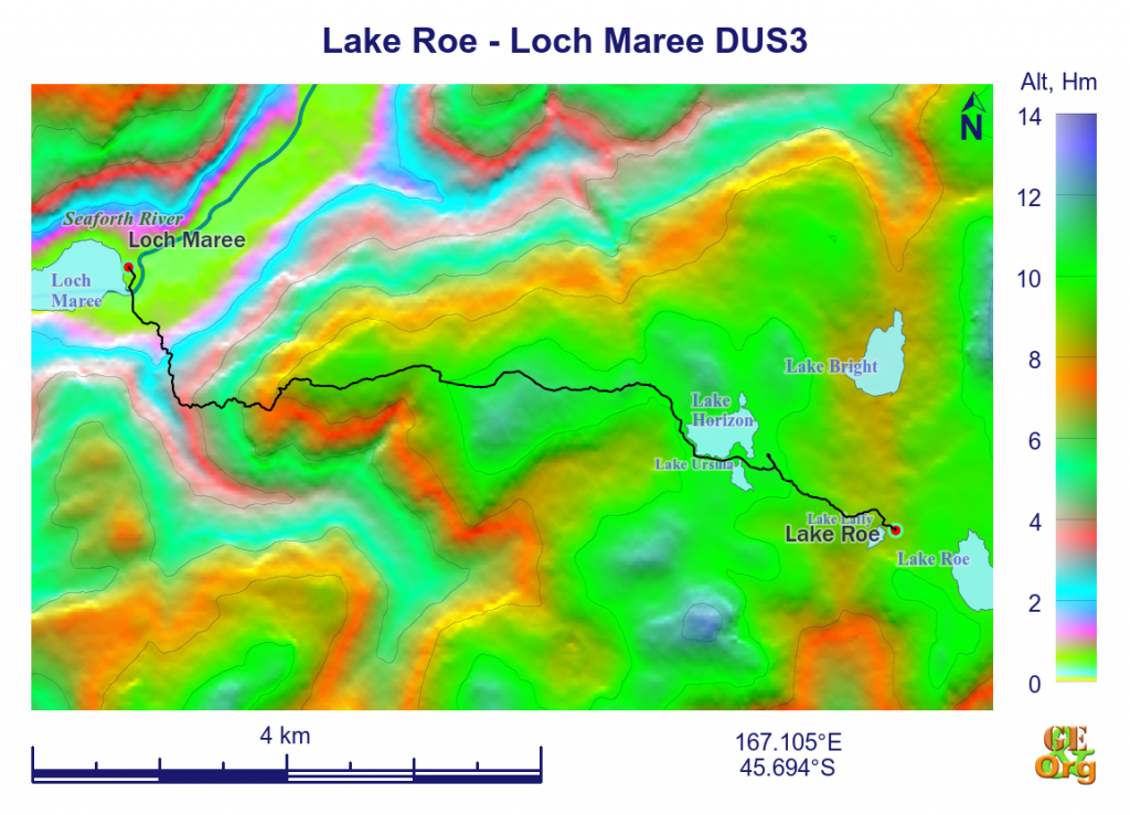Lake Roe - Loch Maree, contour
