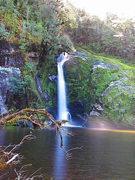 Hilda Burn Falls, enfused/aligned composite of 41 images